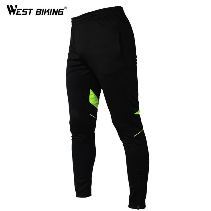 WEST BIKING Men Women Long Cycling Pants Elastic Fleece Riding Bike Breathable Bicycle Pant MTB Outdoor Sport Cycle Wear