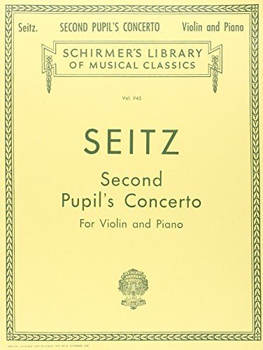"Pupil's Concerto No. 2 in G Major, Op. 13: Score and Parts  13 pages  Size: 12"" x 9""  Composer: Friedrich Seitz  ISBN: 793539129"