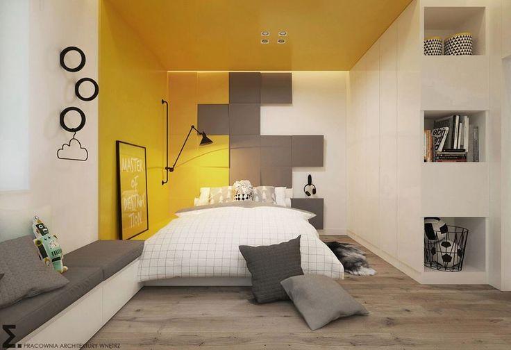 Realizacja. Panele Cube w sypialni.