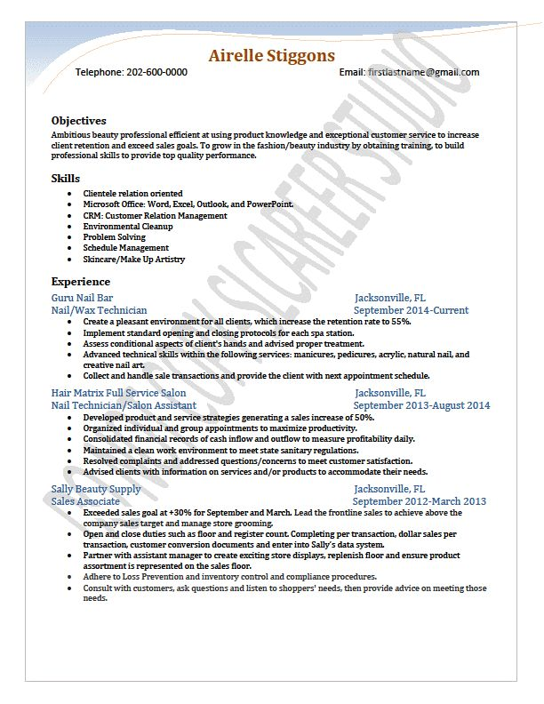 beauty resume new resume modified by slcareer studio career advisor length 1 career advisor resume
