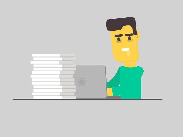 Work, work, work. #aftereffects #ae #animation #flatdesign #rubberhose