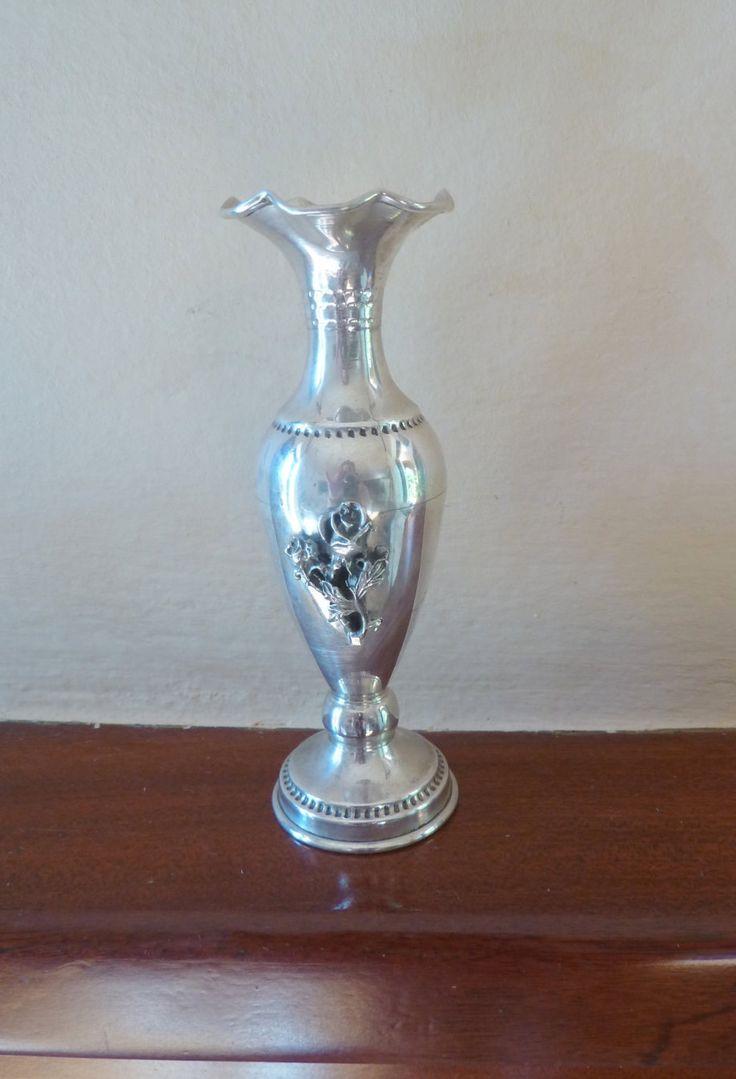 Free shipping handmade stelring silver vase, vintage vase,vintage home decor by Mammastreasure on Etsy