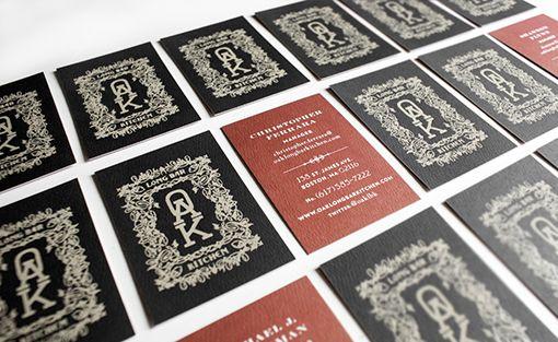 Oak Long Bar by Korn Design: Business Cards, Bar Identity, Identity Branding, Bar Kitchens, Graphics Design, Oak Long Bar, Branding Identity, Designer Business, Jeshurun Webb