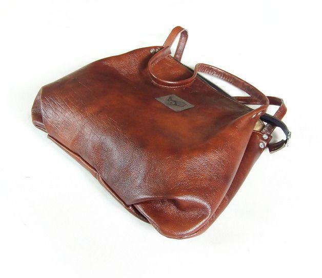 Ledertaschen - Tasche - Kastanienbraun - ein Designerstück von CZAJKACZAJKA bei DaWanda