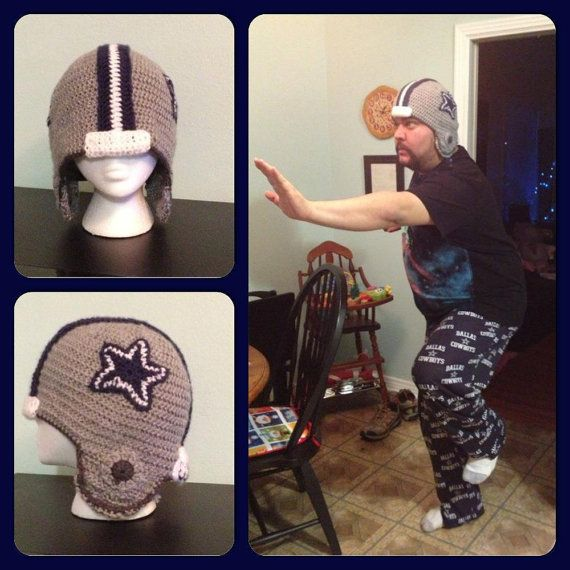 40 best crochet hats sports images on pinterest crochet hats dallas cowboys inspired football helmet crochet pattern by yarnsy 700 dt1010fo