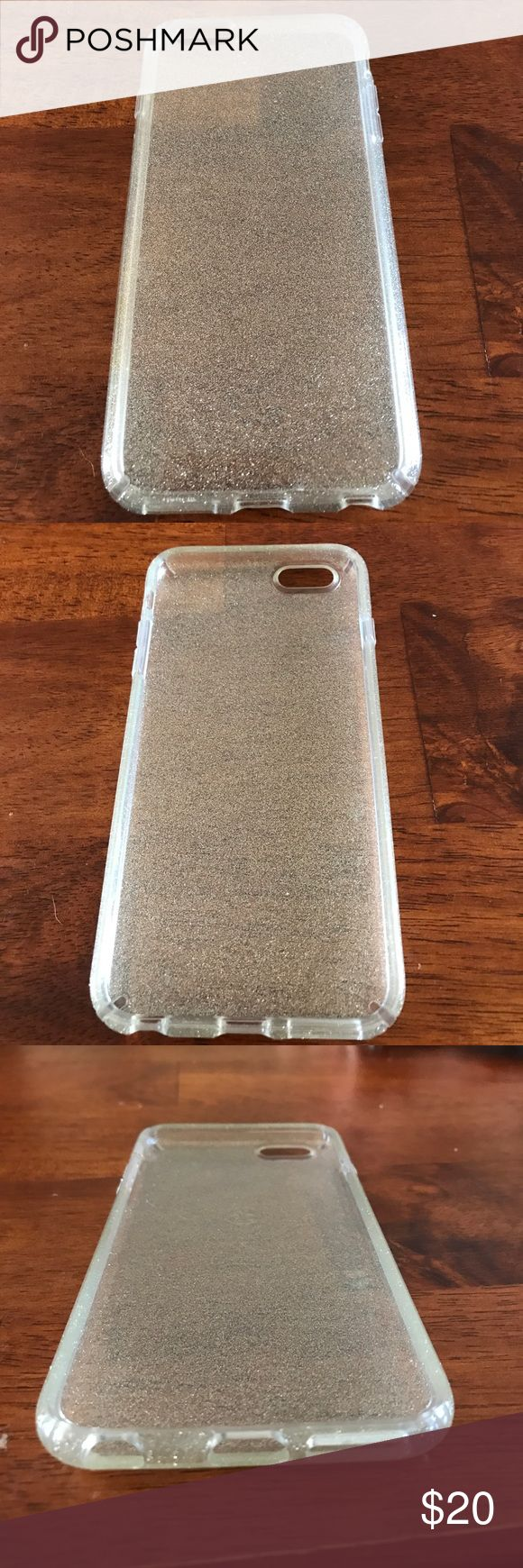 Speck iPhone 6 Plus Case Gold glitter with no signs of wear speck Accessories Phone Cases