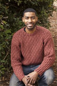 Cabled heather for him