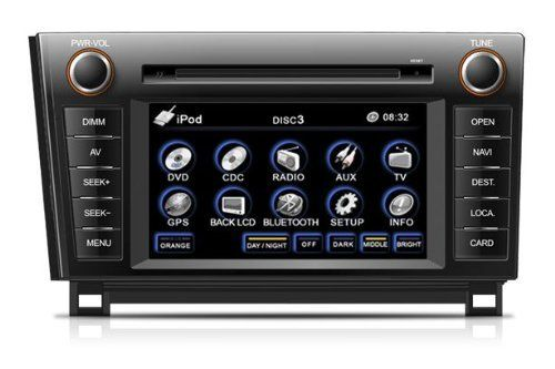 """OEM Replacement DVD 7"""" Touchscreen GPS Navigation Unit For Toyota Tundra Sequoia 2007/2008/2009/2010/2011/2012 With Radio (AM/FM),iPod Interface,Bluetooth Hands Free,USB, AUX Input,US & Canada Map,Plug & Play Installation by Simple. $499.00. SimpleSoft's OEM replacement DVD GPS systems are unparalleled in the marketplace. SimpleSoft's systems are plug and play with each model car, using all of the factory harnesses and connectors and mounting tabs. All models come equ..."""