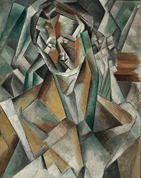 Pablo Picasso, Femme Assise (1909) on ArtStack #pablo-picasso #art