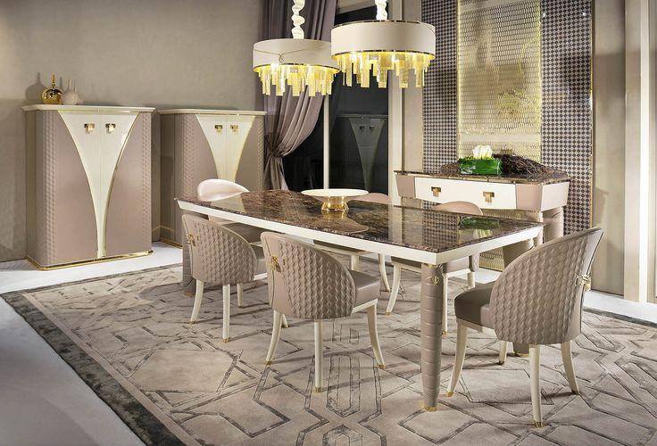 Vogue collection luxury italian dining room for Esszimmer einrichtung modern