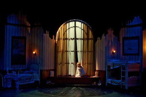 Jayme Mellema scenic design, Peter Pan, Children's Theatre of Charlotte