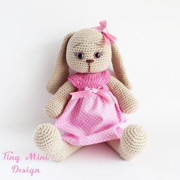 Free Crochet Amigurumi Polka-dot Bunny English Pattern