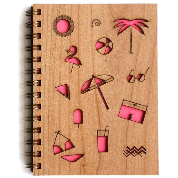 Cardtorial Beach Pink By ($24) ❤ liked on Polyvore featuring stationery