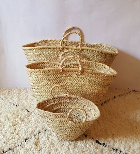 11 best Natural Straw Baskets Market , French Market Basket ...