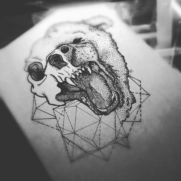 #dotwork #fzsa #artwork #tattoo #designs #bear