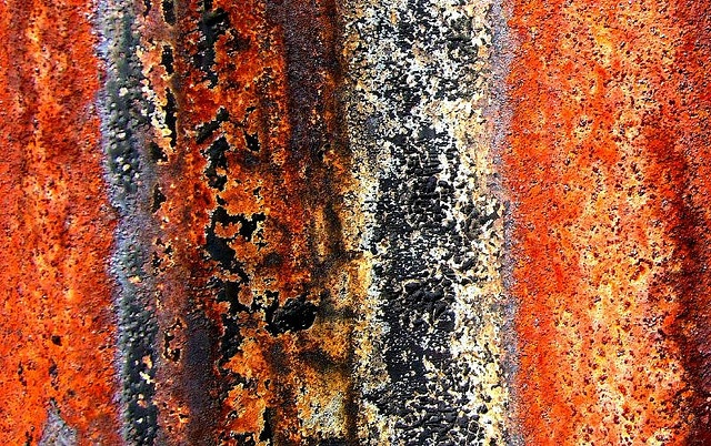 corrugated iron, colours and textures