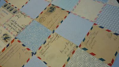 A patchwork quilt made of letters.