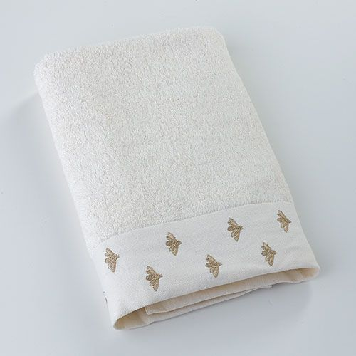 Eileen West Bees Embroidered Bath Towel