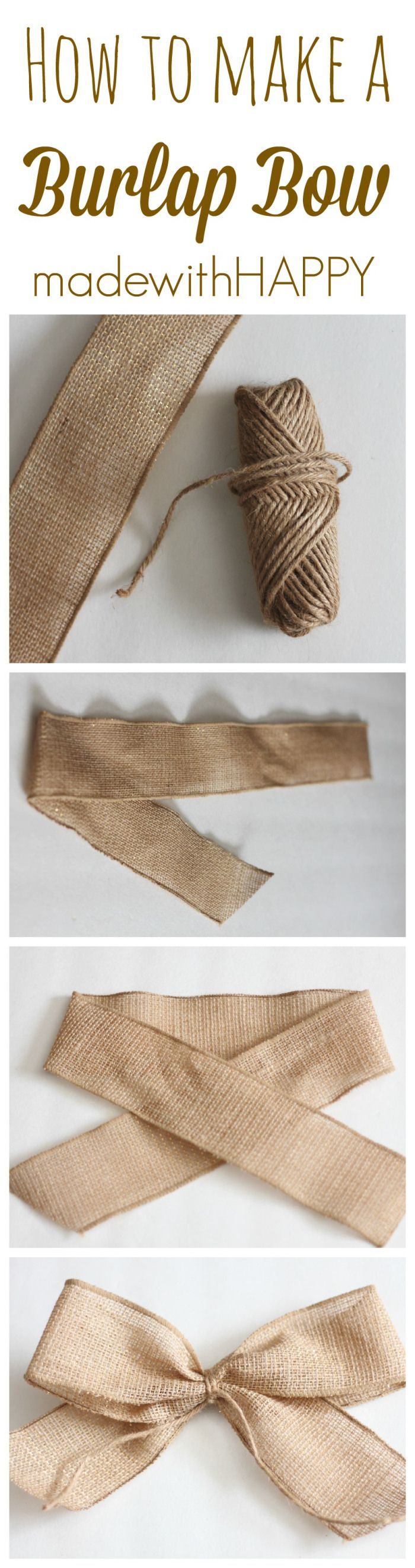 How to make a burlap bow | perfect for decor for all seasons.