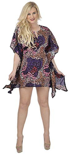 La Leela Super Soft Cotton Beach Wear Bikini Water Bubbles Cover Up Dress Purple. Do YOU want COVER UPS in other colors Like Red   Pink   Orange   Violet   Purple   Yellow   Green   Turquoise   Blue   Teal   Black   Grey   White   Maroon   Brown   Mustard   Navy ,Please click on BRAND NAME LA LEELA above TITLE OR Search for LA LEELA in Search Bar of Amazon. US Size : From Regular 12 (S) TO 16 (XL) ➤ BUST : 41 Inches [104 cms ]➤ Length : 33 Inches [ 83 cms ]. SAVE MONEY Multi-Purpose Use…