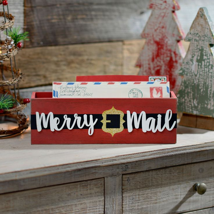 Santa's Belt Merry Mail Box | Kirklands #christmas                                                                                                                                                                                 More