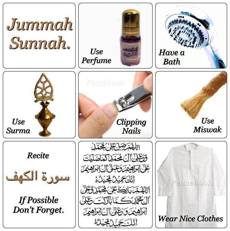 be with god: Here is the Sunnahs of Jummah.
