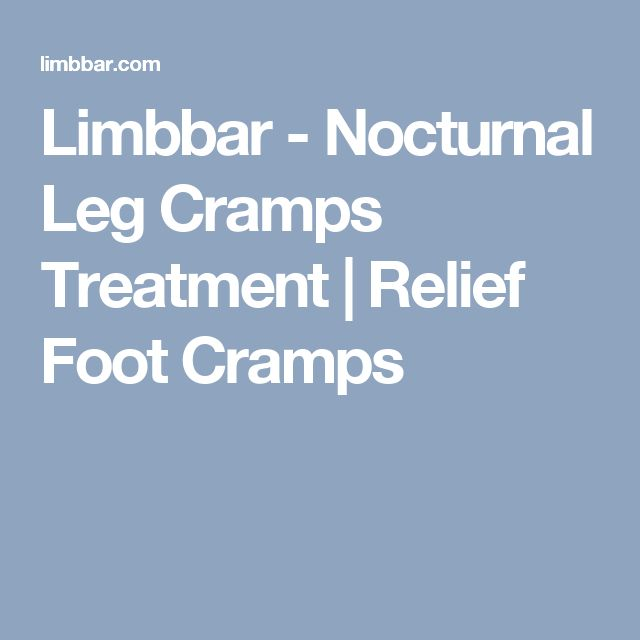 Limbbar - Nocturnal Leg Cramps Treatment | Relief Foot Cramps