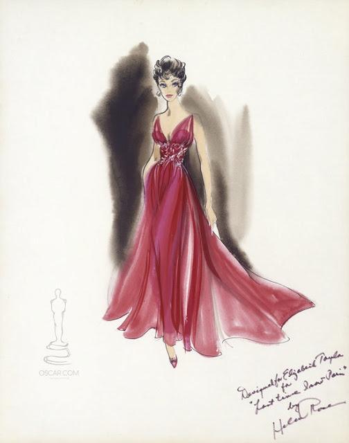 Costume design by Helen Rose. Elizabeth Taylor in the last time I saw Paris.