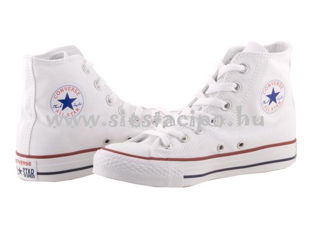 A megunhatatlan Converse divatos és kötelező darab minden korosztálynak! http://www.siestacipo.hu/converse-chuck-taylor-all-star-feher-vaszon-magas-fuzos-cipo-35-45 #shoe #converse