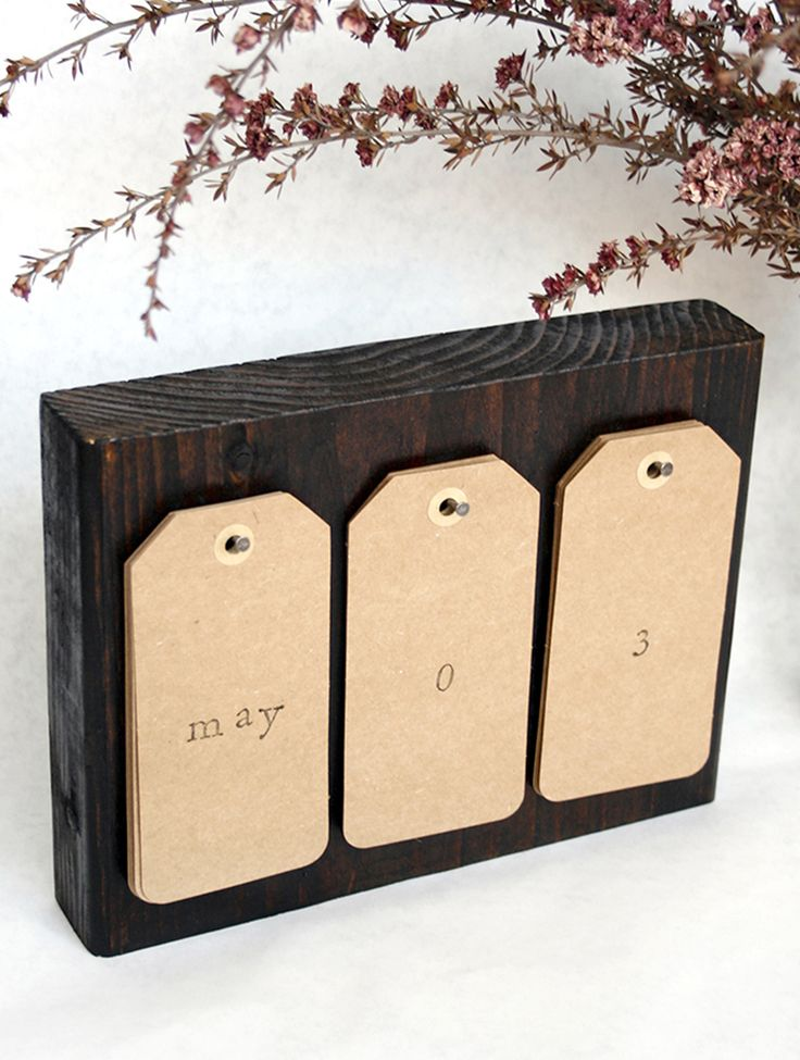 Reclaimed Wood Perpetual Calendar