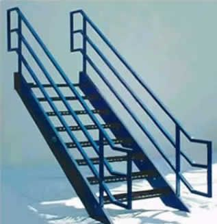 Best Galvanized Stairs Metal Stairs Osha Prefab Stairways 400 x 300