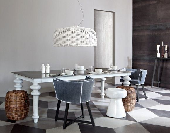 Discover All The Information About The Product Contemporary Pouf / Rattan /  Teak / By Paola Navone CROCO 11   GERVASONI And Find Where You Can Buy It.