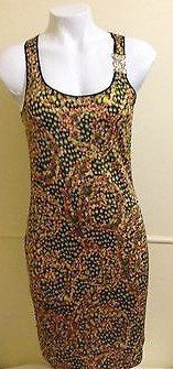 Versace  Jeans Floral  Viscose Dress Made in Italy Size 8 RRP $1035