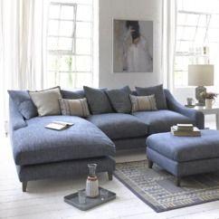 oscar chaise sofa in shaker blue herringbone loaf