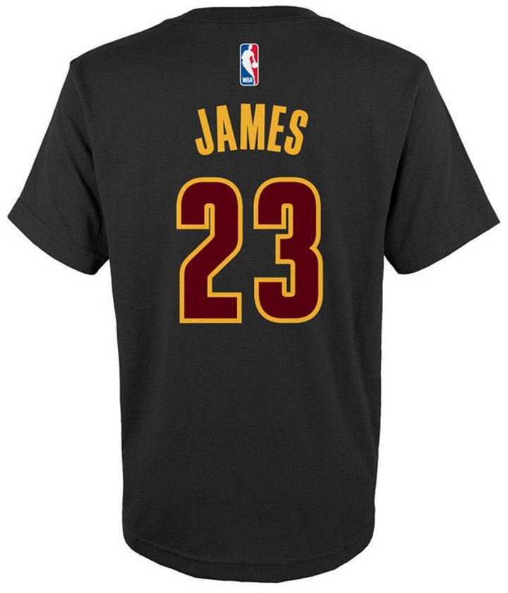 adidas LeBron James Cleveland Cavaliers Name And Number T-Shirt, Big Boys (8-20)