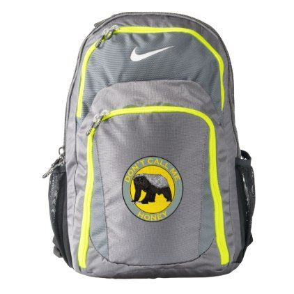 #Don't Call Me Honey Honey Badger Feminist Art Nike Backpack - #travel #accessories