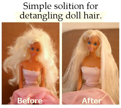 Simple solition for detangling doll hair.