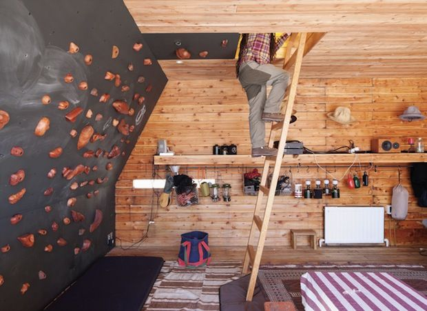 find this pin and more on diy climbing walls - Home Climbing Wall Designs