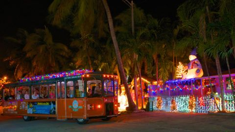 Holly Jolly Trolley Tour by Old Town Trolley Key West