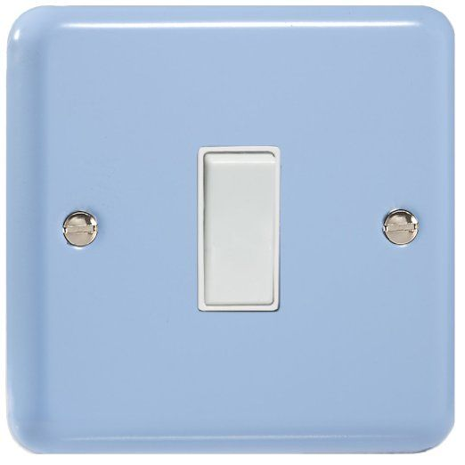 XY1W.DB, Varilight 1 Gang (Single), 1 or 2 Way 10 Amp Switch, Classic Lily Duck Egg Blue
