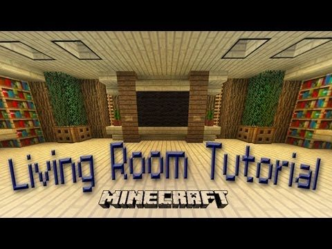 Minecraft how to make an awesome living room design for Living room ideas in minecraft