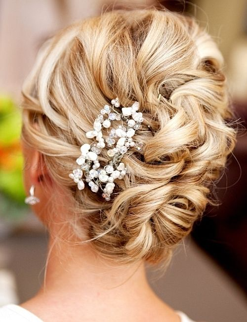 Fabulous 1000 Ideas About Curly Wedding Updo On Pinterest Easy Prom Short Hairstyles Gunalazisus