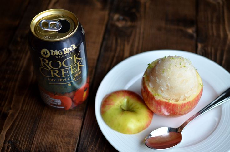 [ Apple Cider Sorbet Recipe ] Why just enjoy cider when you can also enjoy it frozen? A perfect dessert for a hot day. #cider #sorbet
