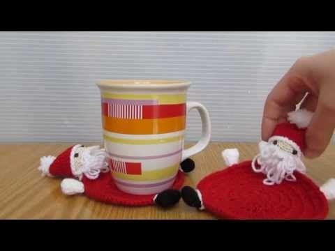 ▶ Babbo Natale realizzato a uncinetto e amigurumi, sotto tazza babbo Natale. - YouTube