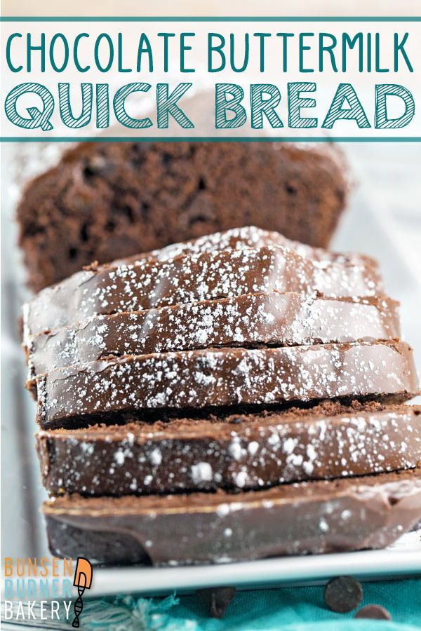 Chocolate Buttermilk Quick Bread Recipe In 2020 Desserts Dessert Cake Recipes Food