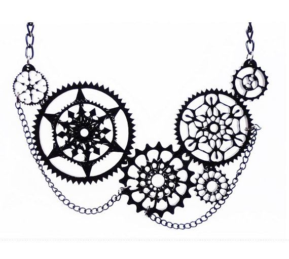Steampunk cog necklace by CherrylocoJewellery on Etsy