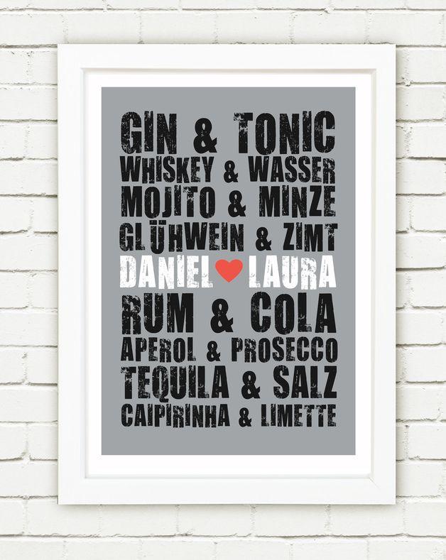 Personalisierter Originaldruck - Wir gehören zusammen wie...   Perfektes Hochzeitsgeschenk oder ein kleines persönliches Kunstwerk für dich und deinen Partner.   Bei Bestellung bitte...