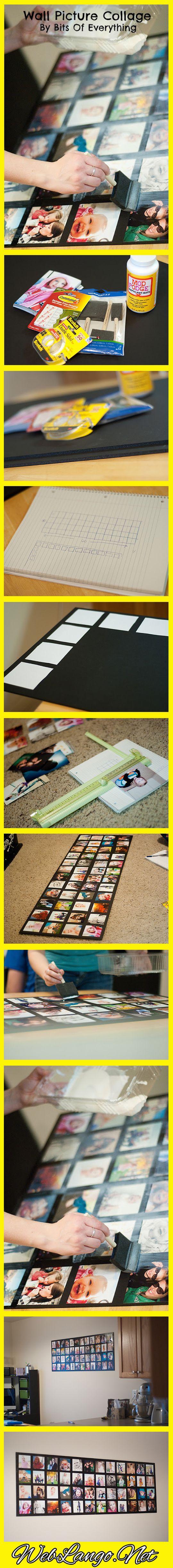 Como Fazer um Quadro de Parede com Colagem de Fotos