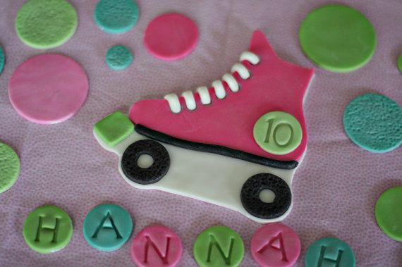 Rollers fondant Cake Topper Polka Dots nom et par parkersflourpatch
