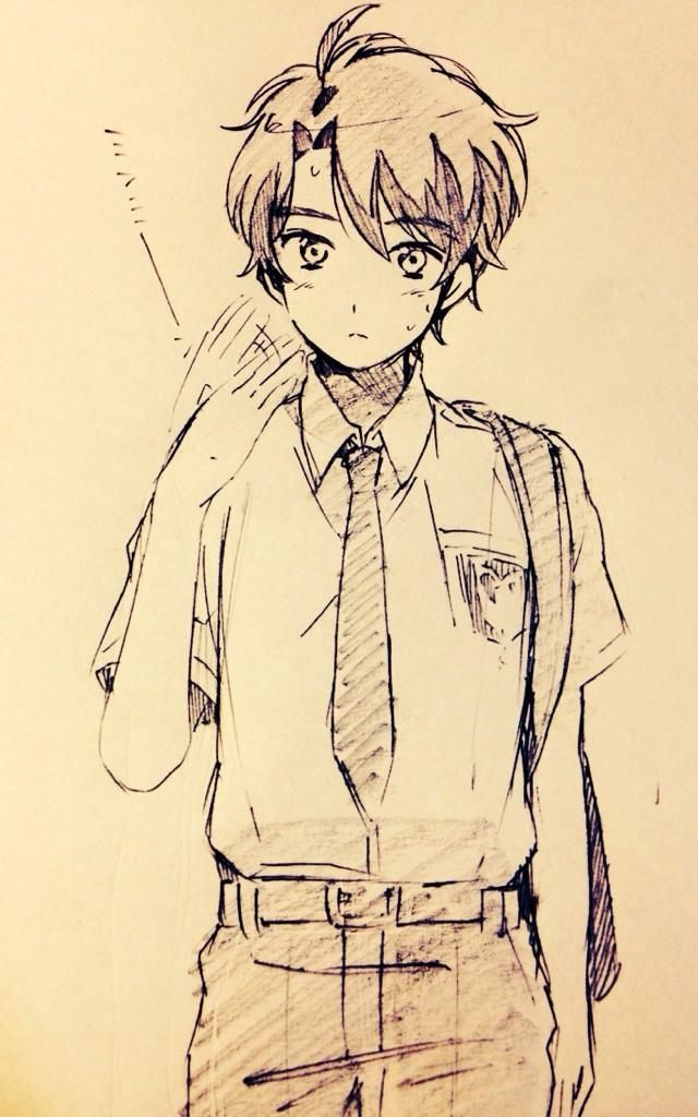 anime boy drawings pictures to pin on pinterest pinsdaddy